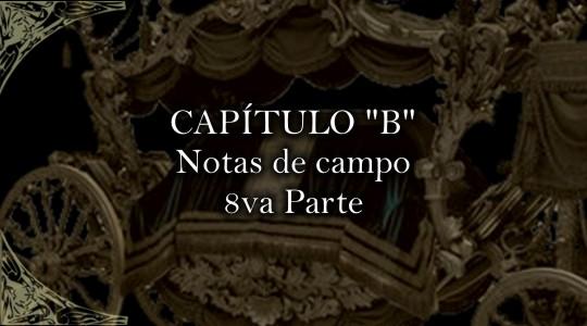 La sociedad de los poetas de la noche, CAPITULO B-8va parte-Notas de campo
